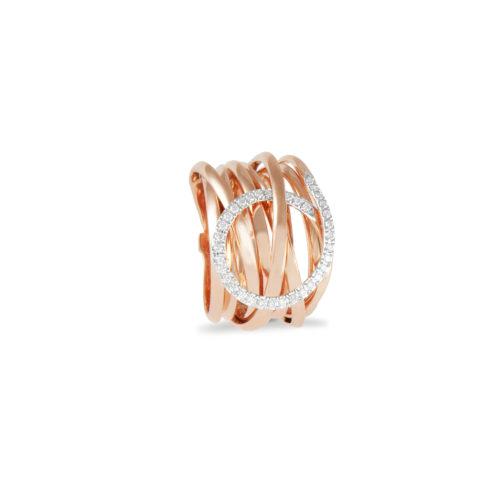 nello in oro rosa con diamanti bianchi Collezione Gomitolo Oro 18 carati Diamanti bianchi: carati 0,24 - qualità G/VS