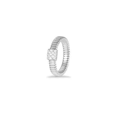Anello in oro bianco con diamanti bianchi Collezione Basic Oro 18 carati Diamanti bianchi: carati 0,13 - qualità G/VS