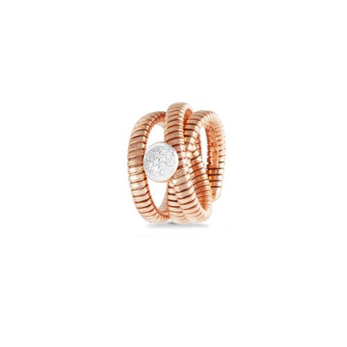 nello in oro rosa con diamanti bianchi Collezione Wide Oro 18 carati Diamanti bianchi: carati 0,15 - qualità G/VS