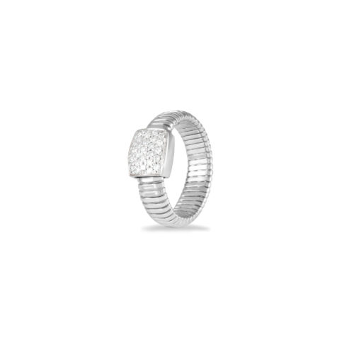 Anello in oro bianco con diamanti bianchi Collezione Basic Oro 18 carati Diamanti bianchi: carati 0,27 - qualità G/VS