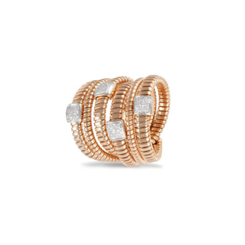 Anello in oro rosa con diamanti bianchi Collezione Wide Oro 18 carati Diamanti bianchi: carati 0,29 - qualità G/VS