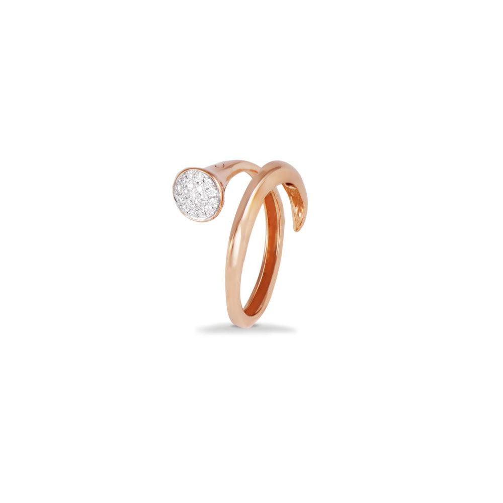 Anello in oro rosa con diamanti bianchi Collezione Premiére Oro 18 carati Diamanti bianchi: carati 0,12 - qualità G/VS