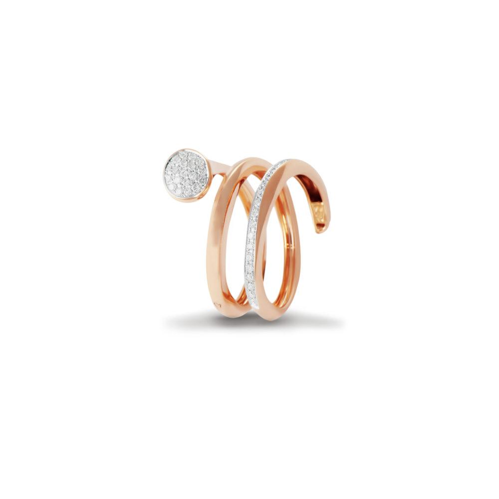 Anello in oro rosa con diamanti bianchi Collezione Premiére Oro 18 carati Diamanti bianchi: carati 0,23 - qualità G/VS