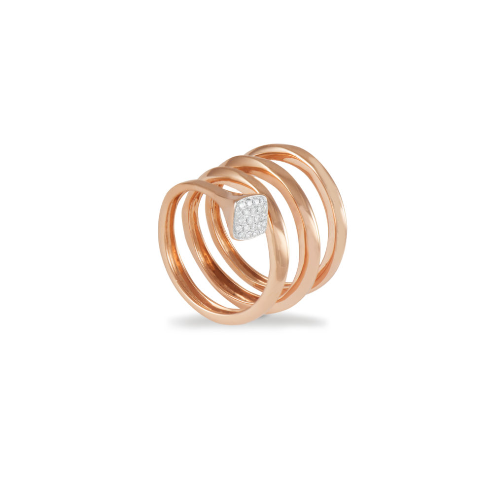 Anello in oro rosa con diamanti bianchi Collezione Premiére Oro 18 carati Diamanti bianchi: carati 0,09 - qualità G/VS