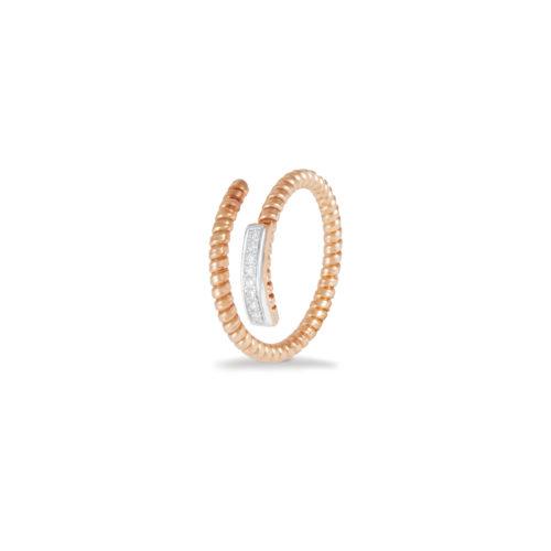 Anello in oro rosa con diamanti bianchi Collezione Easy Oro 18 carati Diamanti bianchi: carati 0,06 - qualità G/VS