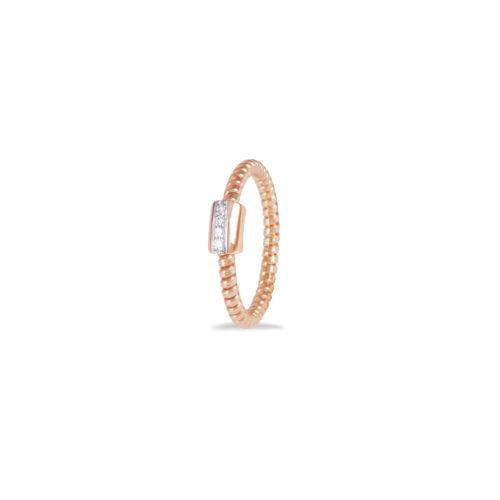 Anello in oro rosa con diamanti bianchi Collezione Easy Oro 18 carati Diamanti bianchi: carati 0,03 - qualità G/VS