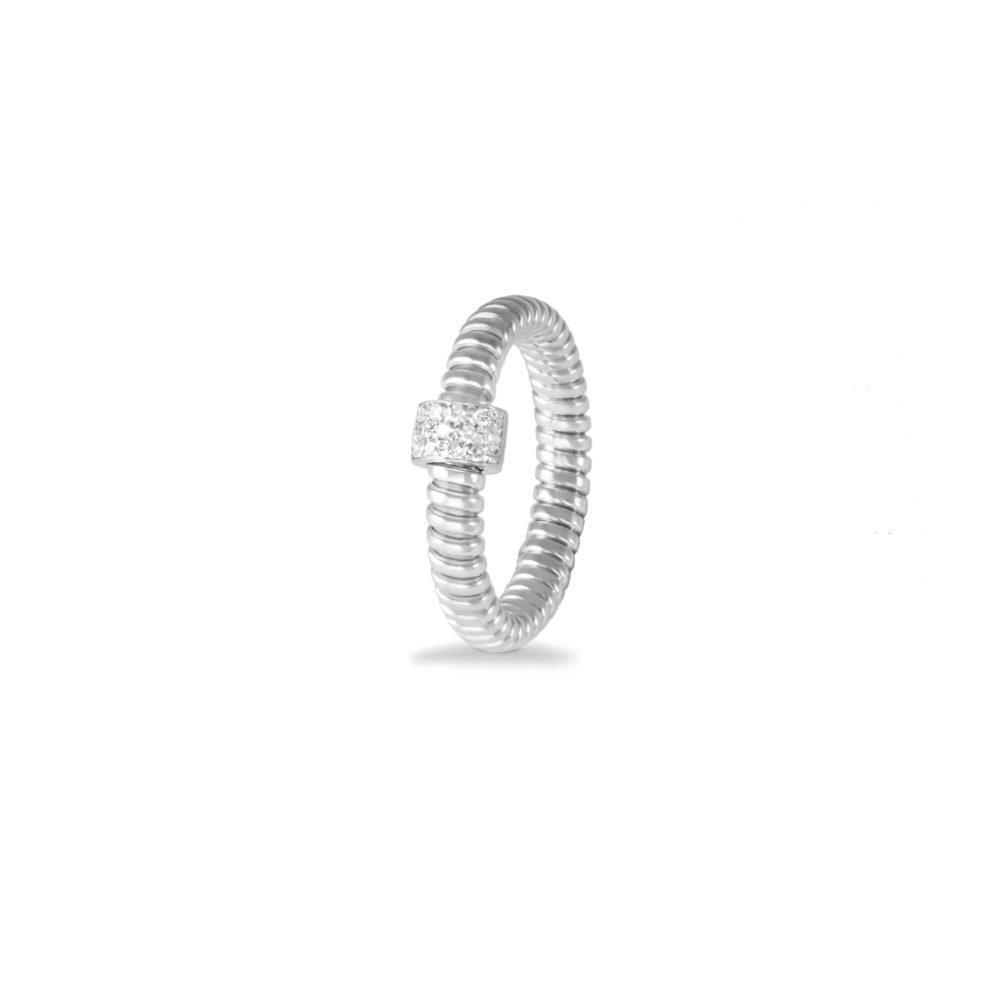Anello in oro bianco con diamanti bianchi Collezione Basic Oro 18 carati Diamanti bianchi: carati 0,10 - qualità G/VS