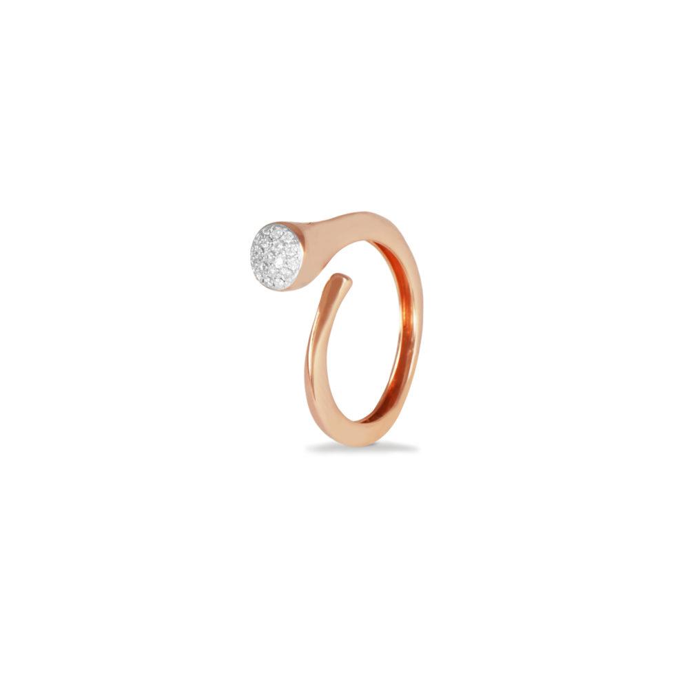 Anello in oro rosa con diamanti bianchi Collezione Premiére Oro 18 carati Diamanti bianchi: carati 0,11 - qualità G/VS