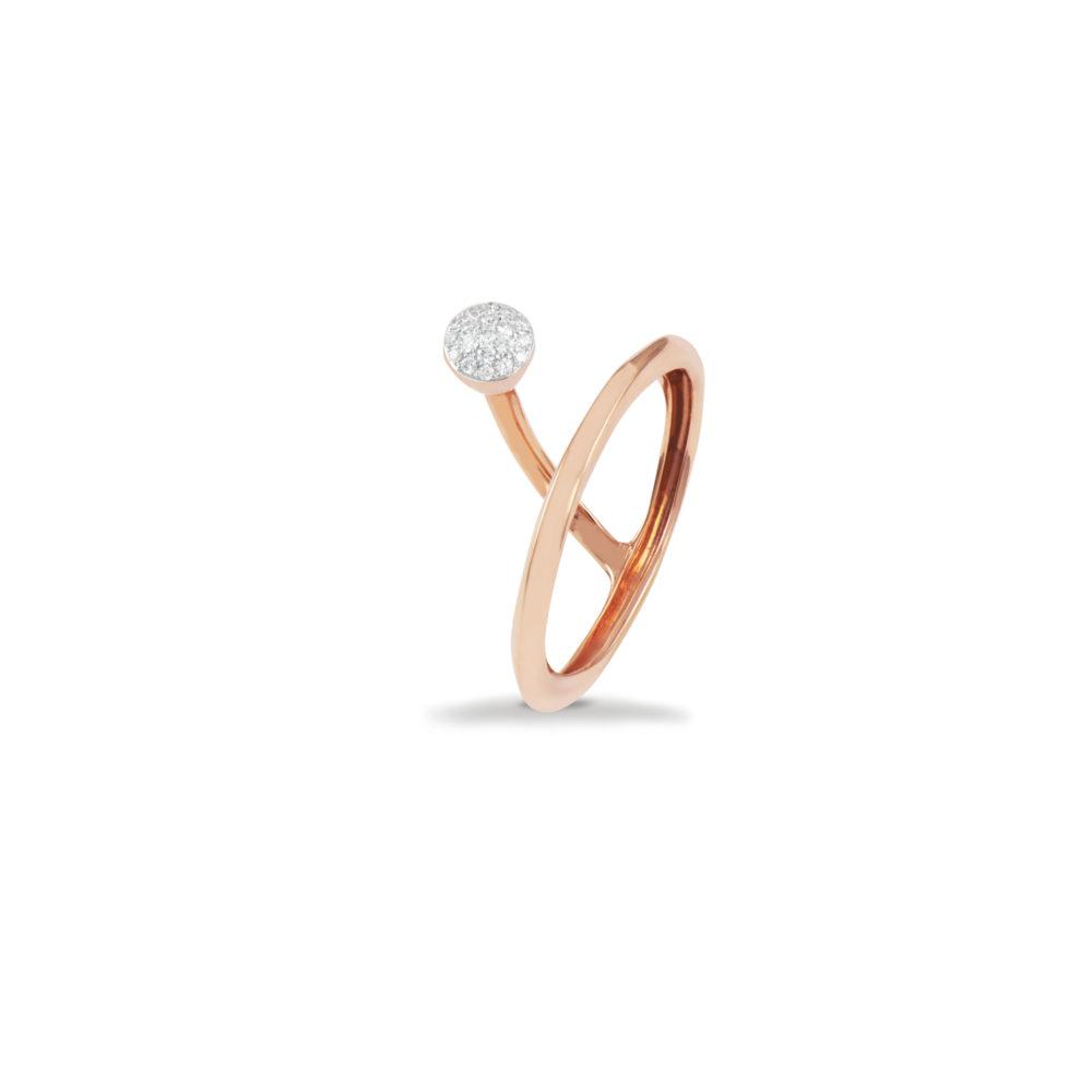 Anello in oro rosa con diamanti bianchi Collezione Premiére Oro 18 carati Diamanti bianchi: carati 0,10 - qualità G/VS
