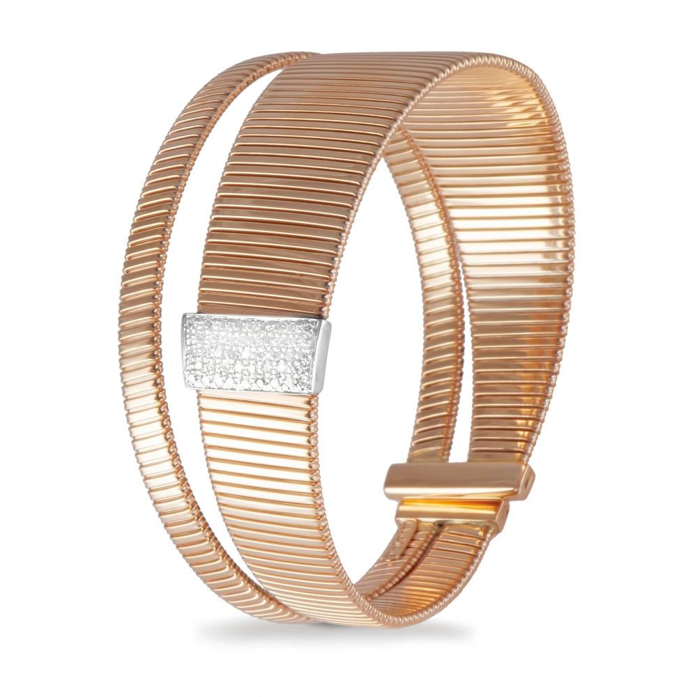 Bracciale in oro rosa con diamanti bianchi Collezione Wide Oro 18 carati Diamanti bianchi: carati 0,34 - qualità G/VS