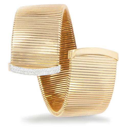 Bracciale in oro giallo con diamanti bianchi Collezione Wide Oro 18 carati Diamanti bianchi: carati 0,33 - qualità G/VS