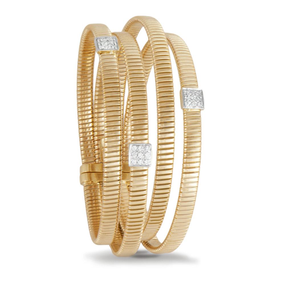 Bracciale in oro giallo con diamanti bianchi Collezione Wide Oro 18 carati Diamanti bianchi: carati 0,27 - qualità G/VS