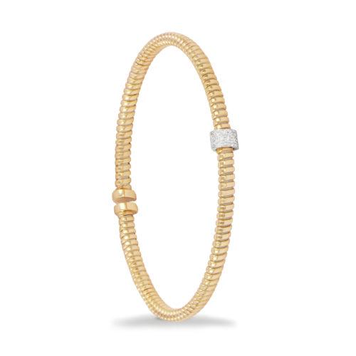 Bracciale in oro giallo con diamanti bianchi Collezione Move Oro 18 carati Diamanti bianchi: carati 0,10 – qualità G/VS