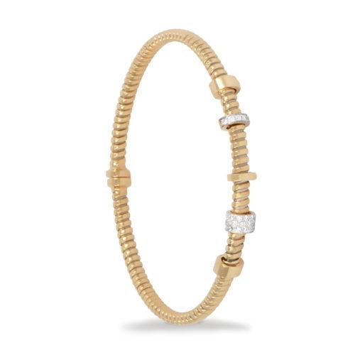 Bracciale in oro giallo con diamanti bianchi Collezione Move Oro 18 carati Diamanti bianchi: carati 0,14 – qualità G/VS