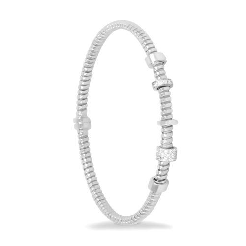 Bracciale in oro bianco con diamanti bianchi Collezione Move Oro 18 carati Diamanti bianchi: carati 0,14 – qualità G/VS