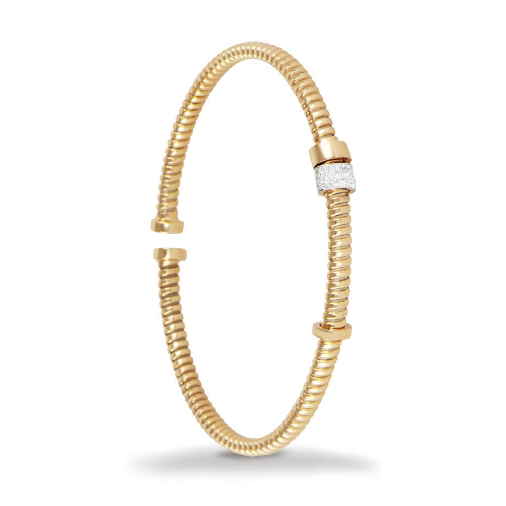 Bracciale in oro giallo con diamanti bianchi Collezione Move Oro 18 carati Diamanti bianchi: carati 0,10 - qualità G/VS 1