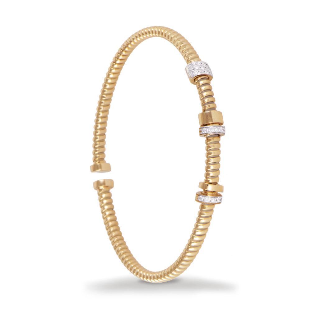 Bracciale in oro giallo con diamanti bianchi Collezione Move Oro 18 carati Diamanti bianchi: carati 0,18 - qualità G/VS