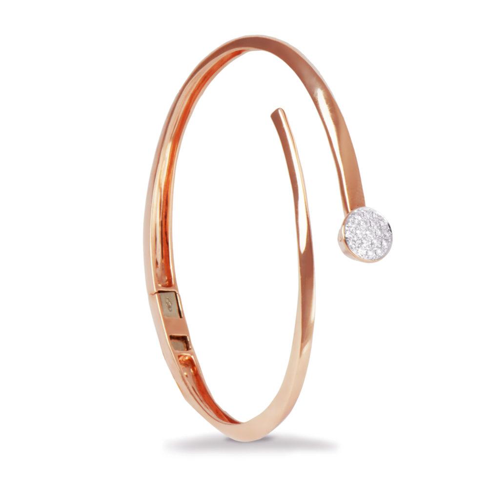 Bracciale in oro rosa con diamanti bianchi Collezione Premiére Oro 18 carati Diamanti bianchi: carati 0,25 - qualità G/VS