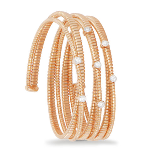 racciale in oro rosa con diamanti bianchi Collezione Easy Oro 18 carati Diamanti bianchi: carati 0,25 - qualità G/VS