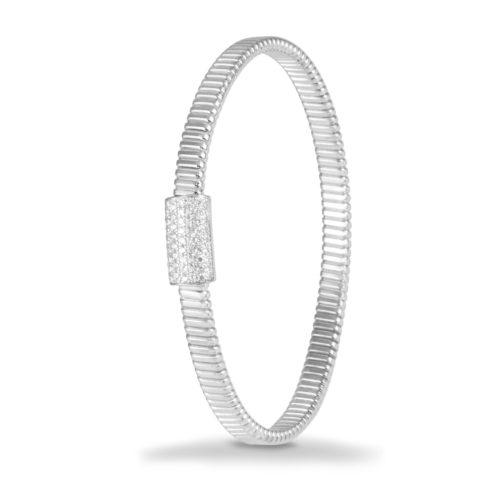 Bracciale in oro bianco con diamanti bianchi Collezione Basic Oro 18 carati Diamanti bianchi: carati 0,47 - qualità G/VS