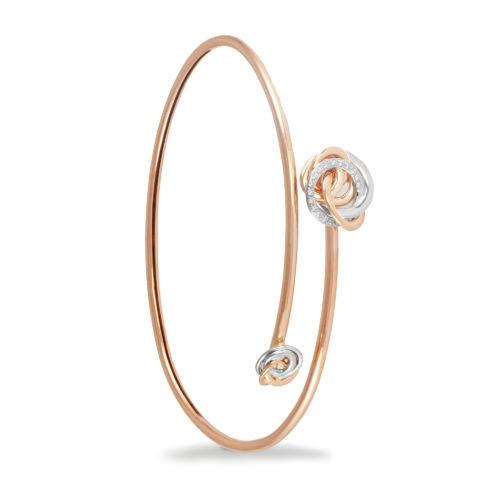 Bracciale in oro rosa e bianco con diamanti bianchi Collezione Circles Oro 18 carati Diamanti bianchi: carati 0,10 - qualità G/VS