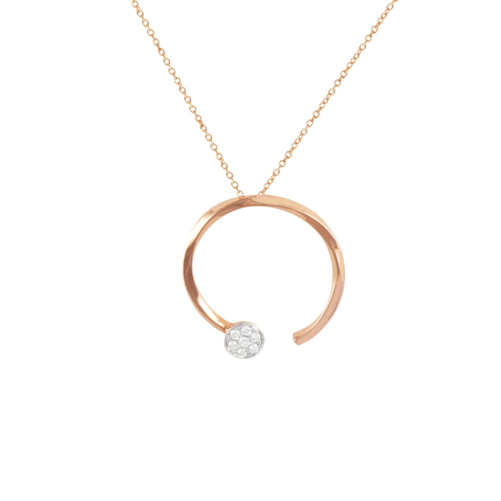 Pendente in oro rosa con diamanti bianchi Collezione Premiére Oro 18 carati Diamanti bianchi: carati 0,13 - qualità G/VS