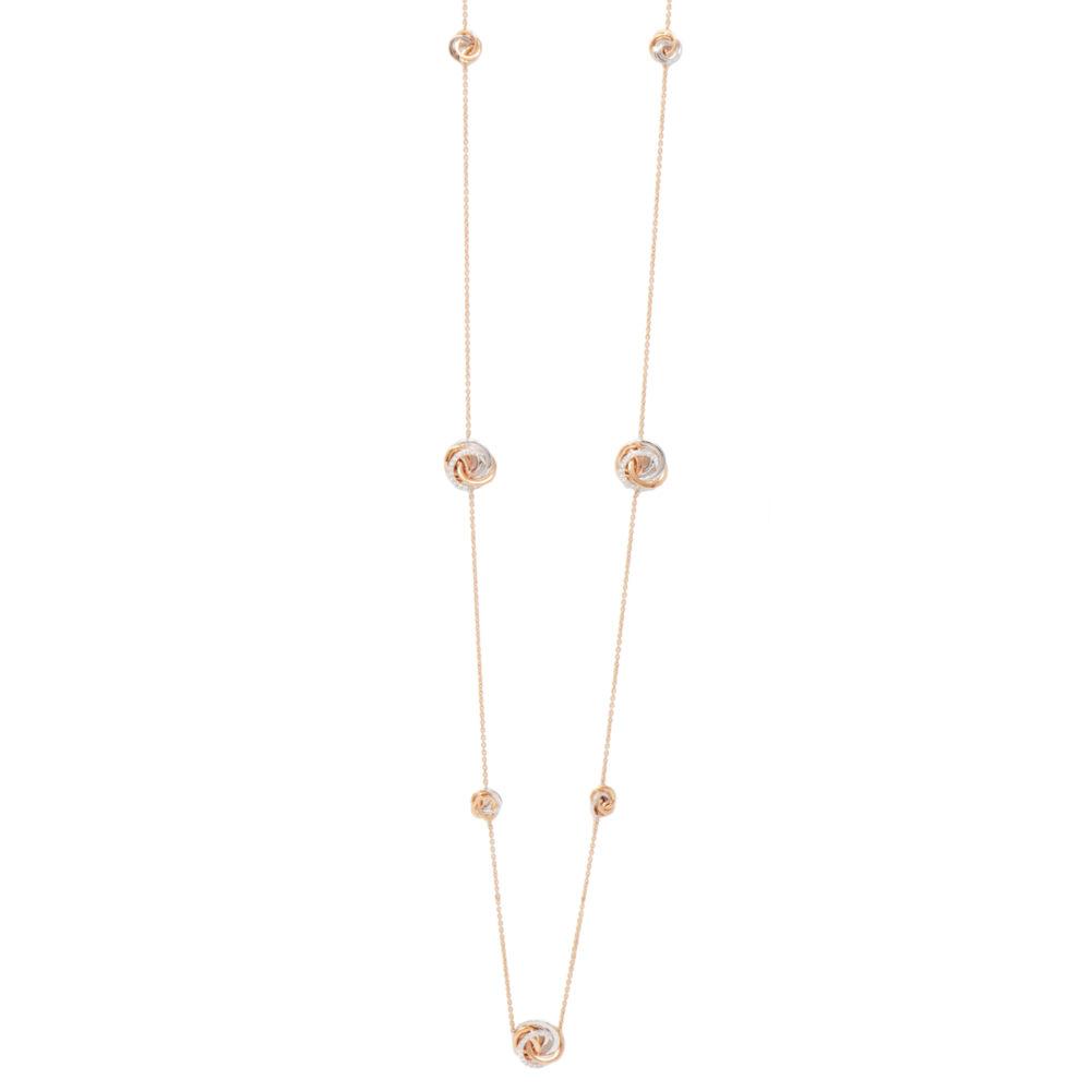 Pendente in oro rosa e bianco con diamanti bianchi Collezione Circles Oro 18 carati Diamanti bianchi: carati 0,51 - qualità G/VS Lunghezza catena: 80 cm