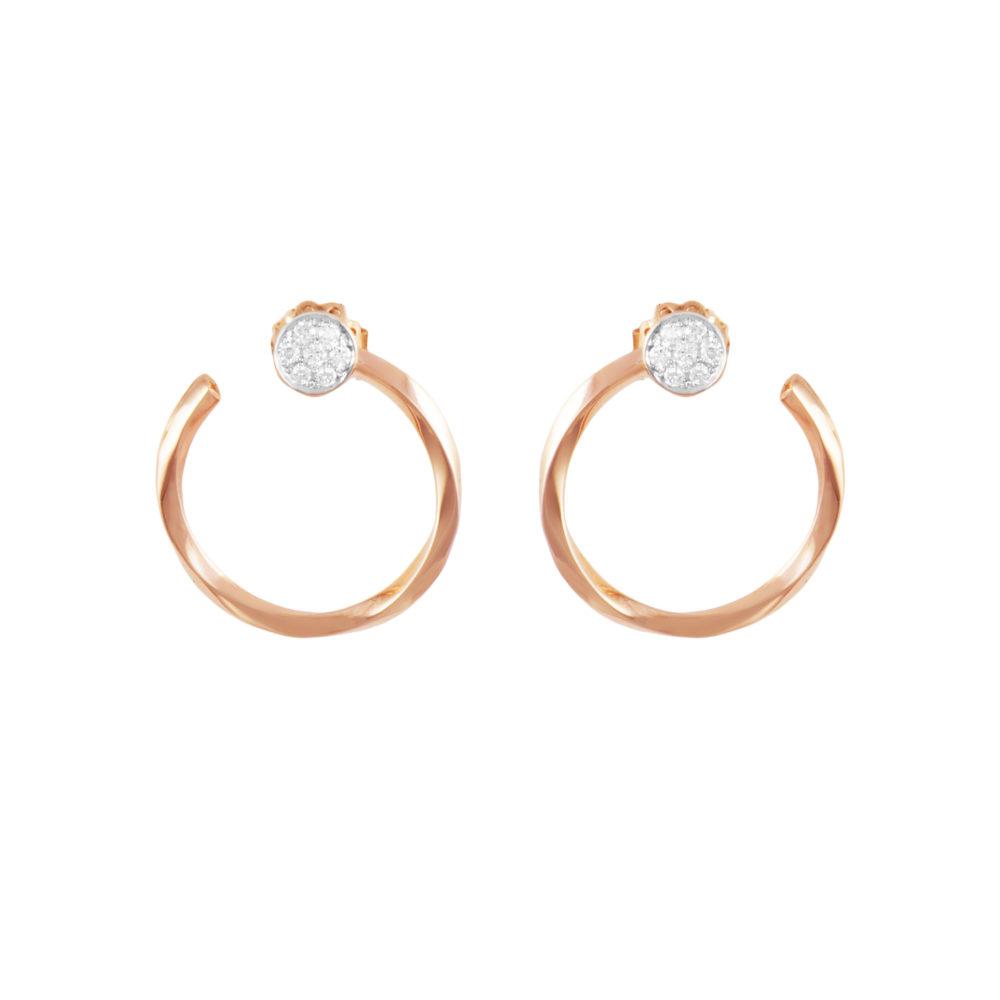 Orecchini in oro rosa con diamanti bianchi Collezione Premiére Oro 18 carati Diamanti bianchi: carati 0,27 - qualità G/VS