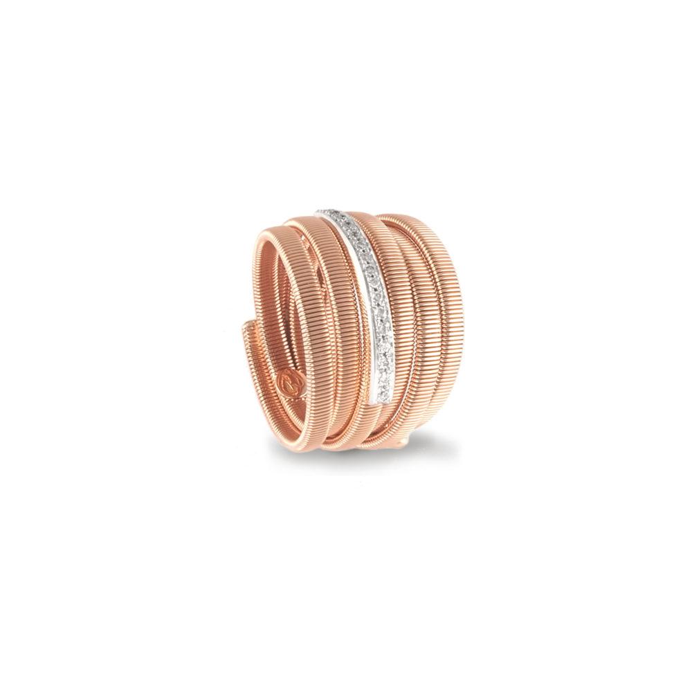 Anello in oro rosa con diamanti bianchi Collezione Sunrise Oro 18 carati Diamanti bianchi: carati 0,14 - qualità G/VS