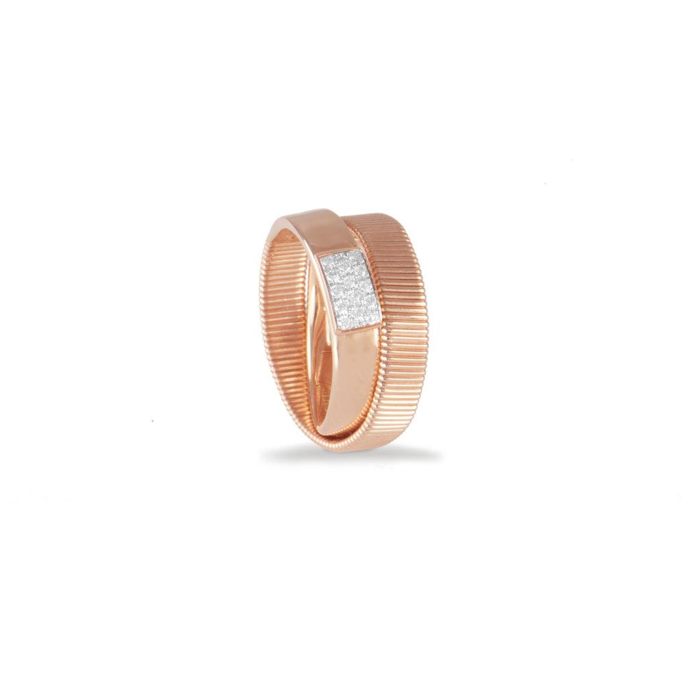 Anello in oro rosa con diamanti bianchi Collezione Sunrise Oro 18 carati Diamanti bianchi: carati 0,12 - qualità G/VS