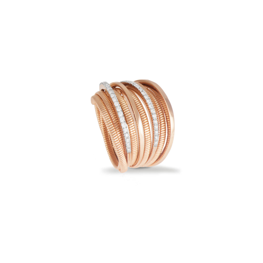 Anello in oro rosa con diamanti bianchi Collezione Sunrise Oro 18 carati Diamanti bianchi: carati 0,25 - qualità G/VS