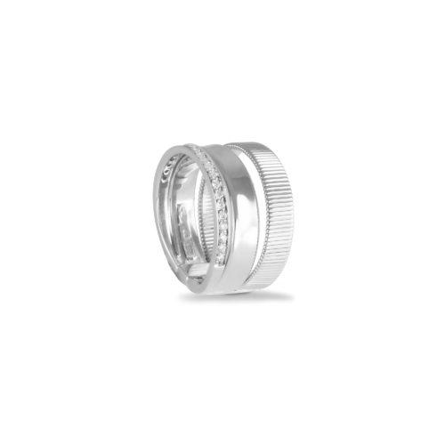 Anello in oro bianco con diamanti bianchi Collezione Sunrise Oro 18 carati Diamanti bianchi: carati 0,21 - qualità G/VS