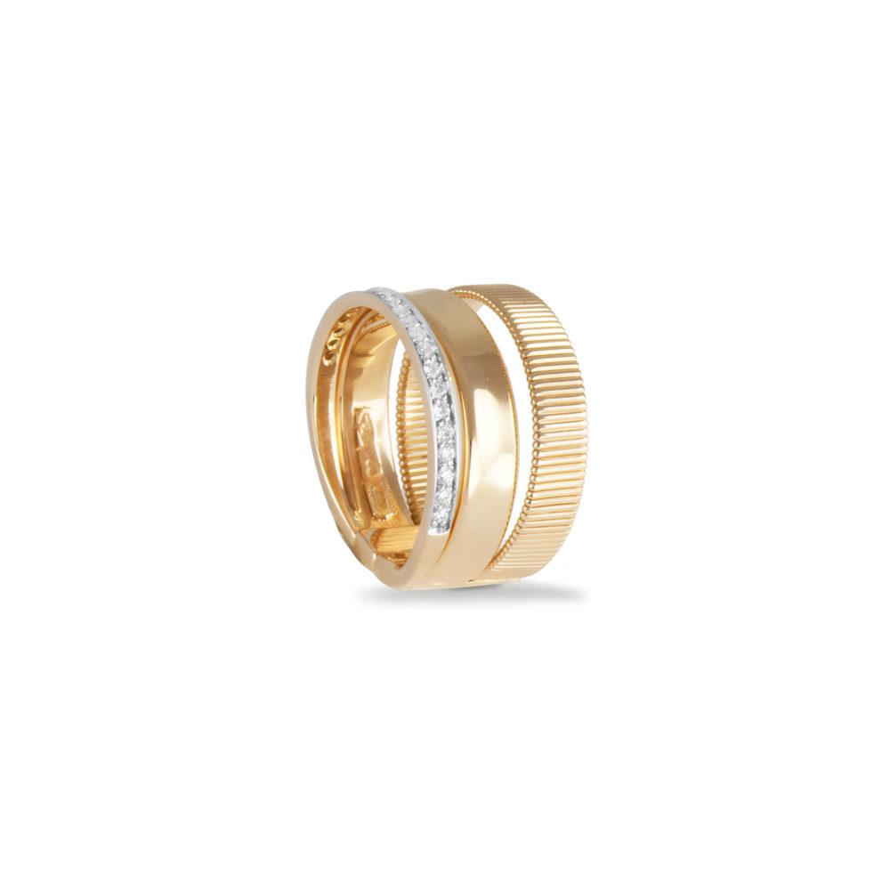 Anello in oro giallo con diamanti bianchi Collezione Sunrise Oro 18 carati Diamanti bianchi: carati 0,21 - qualità G/VS
