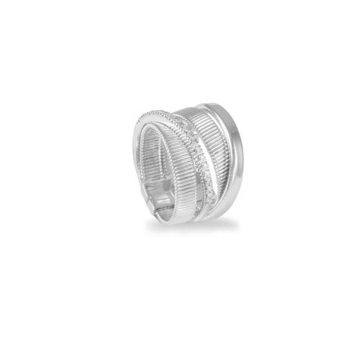 Anello in oro bianco con diamanti bianchi Collezione Sunrise Oro 18 carati Diamanti bianchi: carati 0,13 - qualità G/VS