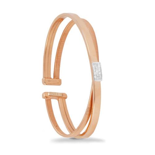 Bracciale in oro rosa con diamanti bianchi Collezione Sunrise Oro 18 carati Diamanti bianchi: carati 0,15 - qualità G/VS