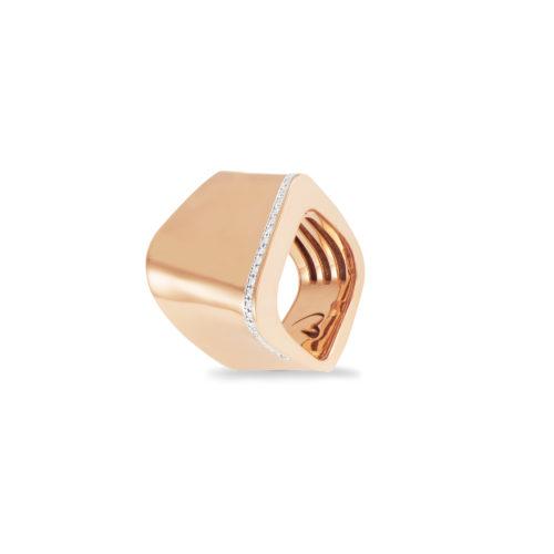 Anello in oro rosa con diamanti bianchi Collezione Kult Oro 18 carati Diamanti bianchi: carati 0,24 - qualità G/VS