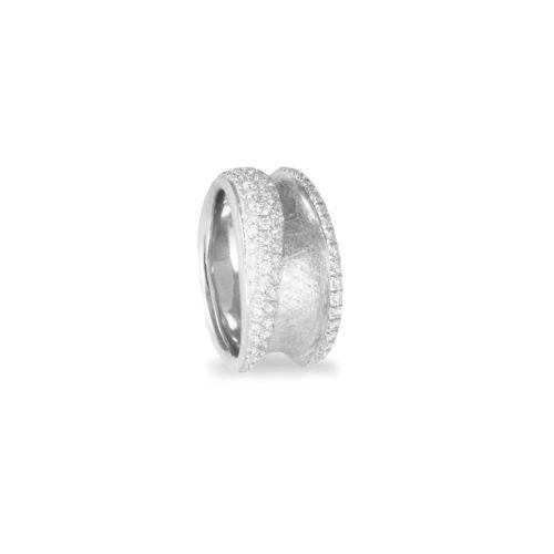 Anello in oro bianco con diamanti bianchi Collezione Reverse Oro 18 carati Diamanti bianchi: carati 0,76 - qualità G/VS