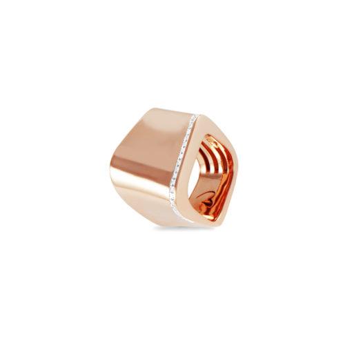Anello in oro rosa con diamanti bianchi Collezione Kult Oro 18 carati Diamanti bianchi: carati 0,22 - qualità G/VS
