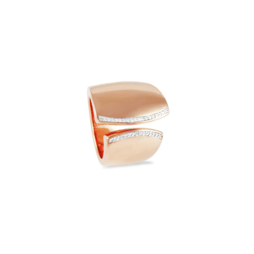 Anello in oro rosa con diamanti bianchi Collezione Kult Oro 18 carati Diamanti bianchi: carati 0,14 - qualità G/VS