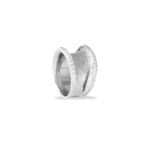 Anello in oro bianco con diamanti bianchi Collezione Reverse Oro 18 carati Diamanti bianchi: carati 0,44 - qualità G/VS