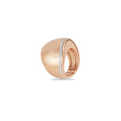 Anello in oro rosa con diamanti bianchi Collezione Kult Oro 18 carati Diamanti bianchi: carati 0,19 - qualità G/VS